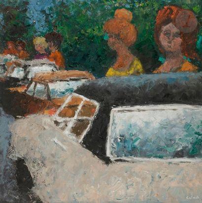 René GALANT (1914-1997) Avenue Foch, l'Attente,...