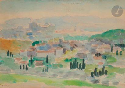 Wilhelm GIMMI (1886-1965) Avignon, 1924 Aquarelle....