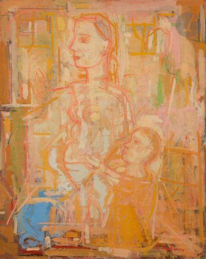 Émile LAHNER (1893-1980) Femme à l'enfant,...