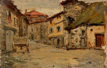 F. LAUTH (XIX-XXe) Eglise - Vieille rue à La Chatre - Vieille tuilerie à La Chatre...