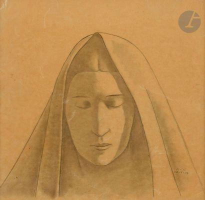 Conrad MEILI (1895-1969) Portrait de femme...