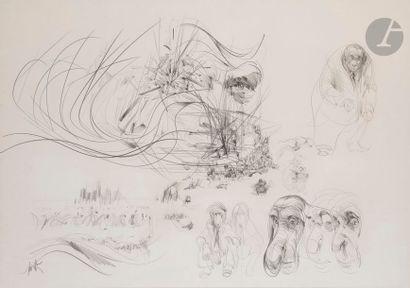 Raymond MORETTI (1931-2005) Etudes de primates...