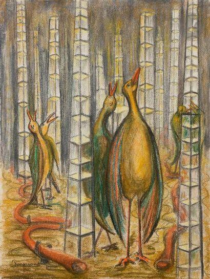 Lucile PASSAVANT (1910-2012) Les Oiseaux...