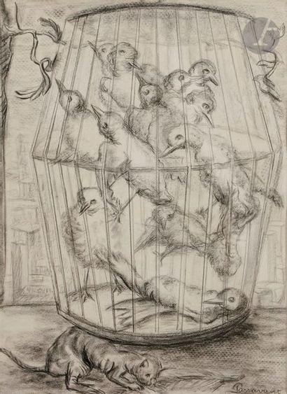 Lucile PASSAVANT (1910-2012) La Cage aux...