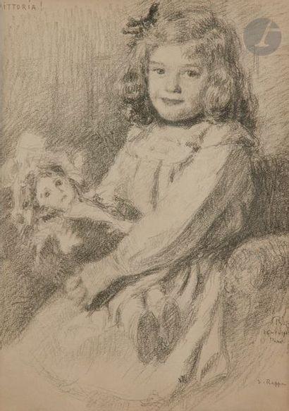 Severino RAPPA (1866-?) Vittoria, 1908 Crayon....