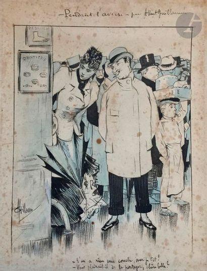 Albert Paul GUILLAUME (1873-1942) Pendant...