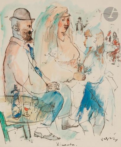 Sylvain VIGNY (1902-1970) Scène de famille...