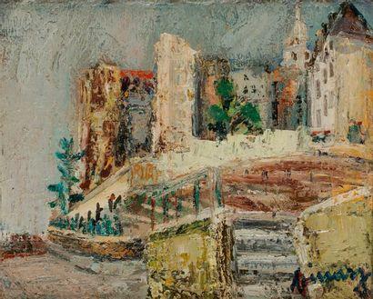 Jean VINAY (1907-1978) Montmartre, Les Vignes, 1961-62 Huile sur toile. Signée,...