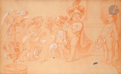 Adolphe-Léon WILLETTE (1857-1926) Jeux d'enfants...