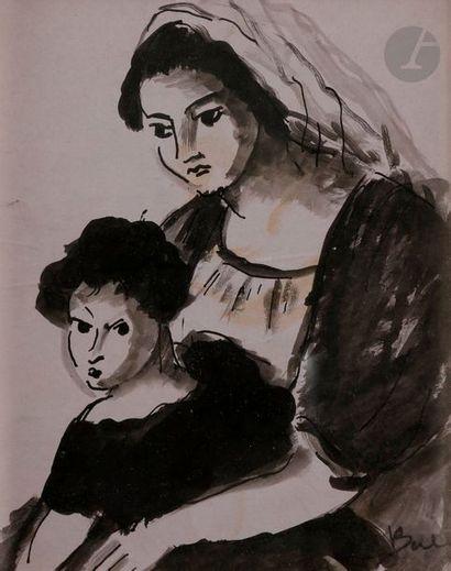 Madeleine BERLY DE VLAMINCK (1896-1953) Maternité...