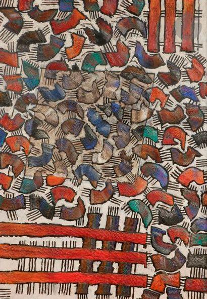 Sergio CERCHI (né en 1957) Lascaux, 1992 Huile sur panneau. Signée, datée et titrée...
