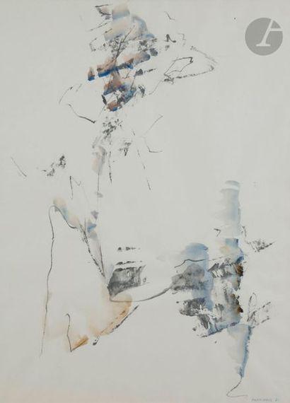 Albert CHAMINADE (1923-2010) Composition, 1971 Technique mixte sur papier. Signée...