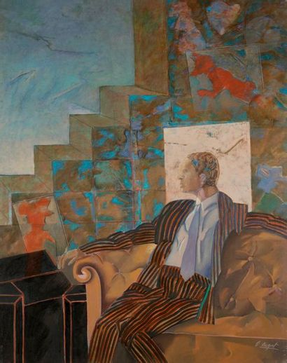 Delia CUGAT (né en 1930) L'Étranger, 1990...