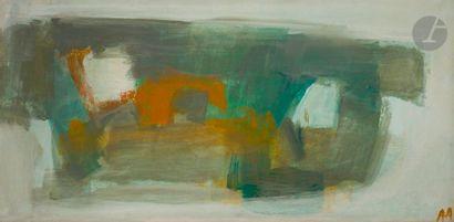 Composition, 1959 Huile sur toile. Monogrammée...