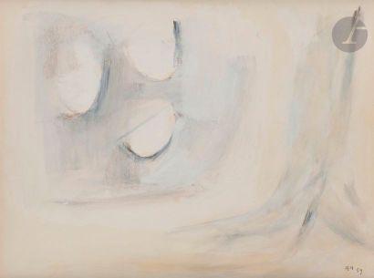 Composition, 1959 Huile sur papier contrecollé...