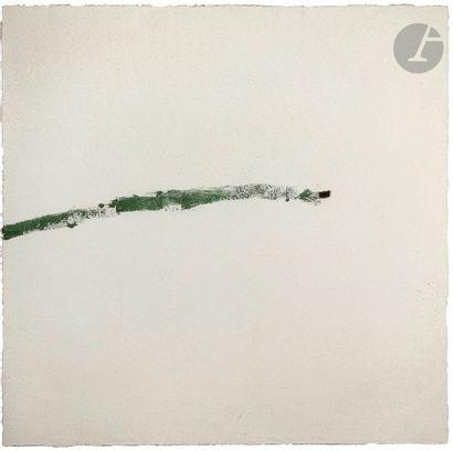 Trace, 1992 Technique mixte sur toile. Signée et datée au dos. 121 x 121 cm Expositions...