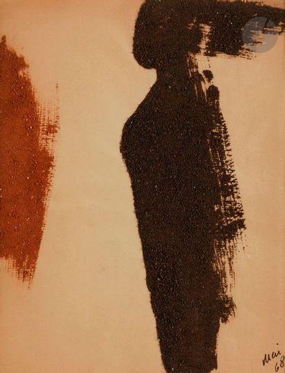Composition, 1968 Poudre de brique sur papier....