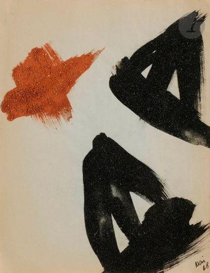 Composition, 1968 Poudre de charbon et brique...