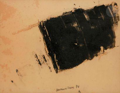 Composition, 1974 Poudre de charbon et grattage...