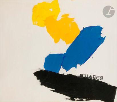 Nuages, vers 1987 Technique mixte sur papier....