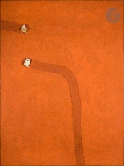 Tracé avec deux silex, 1974 Technique mixte,...