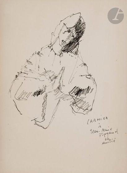 Carmina, 1988 Encre. Signée et dédicacée...