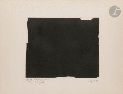 Composition, vers 1990 Gravure. Signée et...