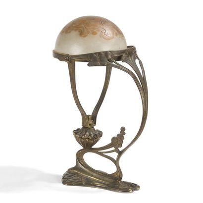 TRAVAIL JUGENDSTIL Lampe de table naturaliste...