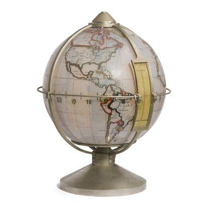 TRAVAIL DES ANNÉES 1930/50 Rare globe terrestre...