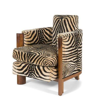 TRAVAIL DES ANNÉES 1930/40 Intéressant fauteuil...