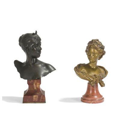 ENSEMBLE DE 2 ŒUVRES AGATHON LÉONARD (1841-1923),...