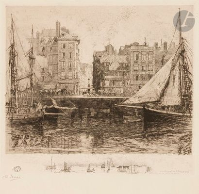 Charles Jouas (1866-1942) Before the port...