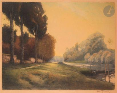 Henri Jourdain (1864-1931) Towpath. 1922....
