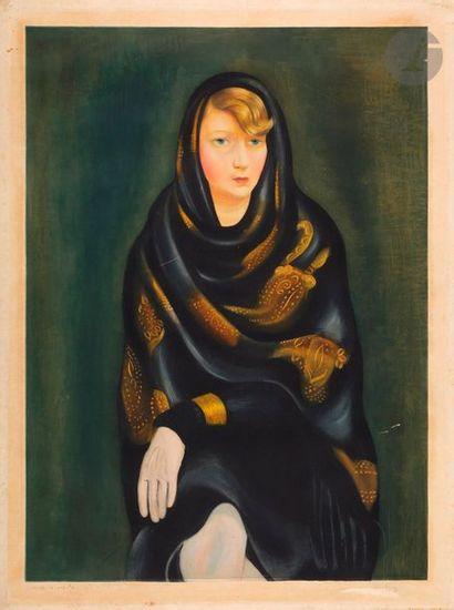 *Moïse Kisling (1891-1953) Sonia. Vers 1925. Aquatinte. 470 x 620. Impression en...