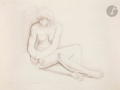 Moses Kisling (1891-1953) Nude seated. Around...