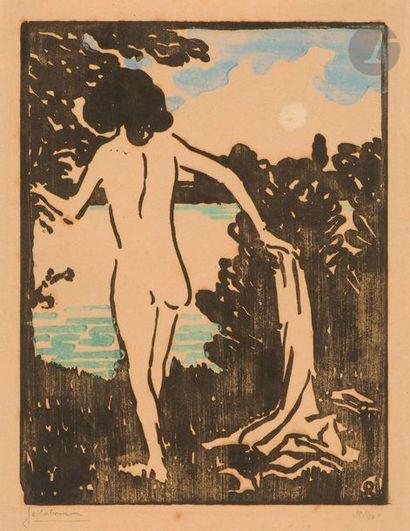 Jean-Émile Laboureur (1877-1943) Bather....