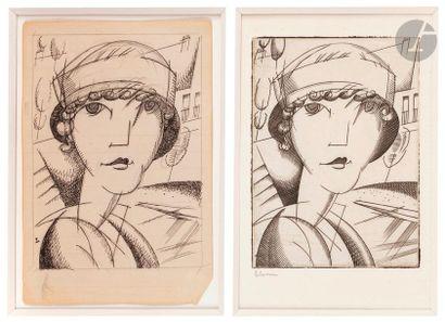 Jean-Émile Laboureur (1877-1943) Portrait. 1917. Burin. 80 x 104. Laboureur 170....