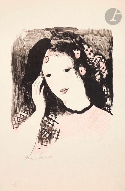 Marie Laurencin (1883-1956) Tête de femme...