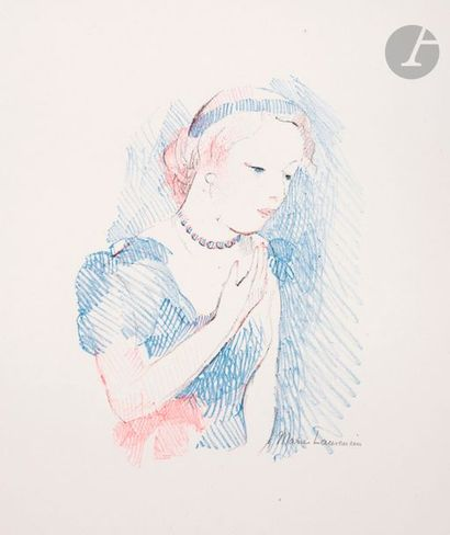 Marie Laurencin (1883-1956) Young girl with...