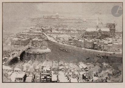 Auguste Lepère (1849-1918) Paris under the...