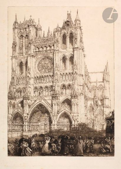 Auguste Lepère (1849-1918) Amiens Cathedral,...