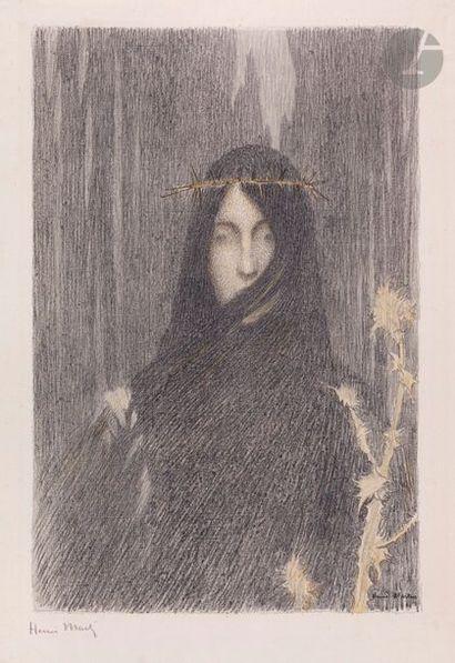 Henri Martin (1860-1943) Woman's head crowned...