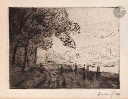 Maxime Maufra (1861-1918) Riverside. Around...