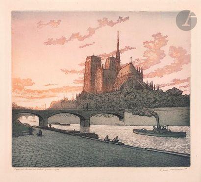 Henri Meunier (1873-1922) Paris, le chevet...