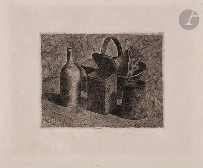 Giorgio Morandi (1890-1964)Natura morta con...