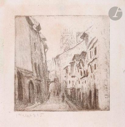 Camille Pissarro (1830-1903) Une ruelle à...
