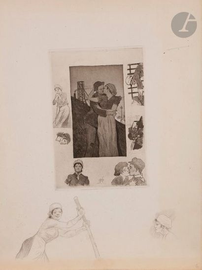 Armand Rassenfosse (1862-1934) Le Baiser...