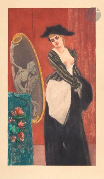 Le Démon de la coquetterie. Vers 1898. Eau-forte...