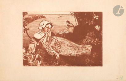 Armand Seguin (1869-1903) La Primavera (femme...