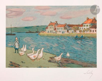 Alfred Sisley (1839-1899) Bords de rivière,...